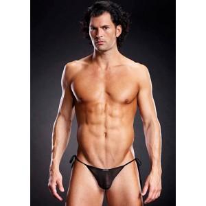Bikini Negro Transparente Para Hombre