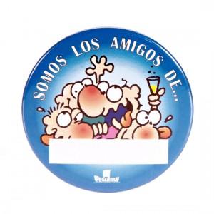Chapa Somos Los Amigas Personalizable Azul