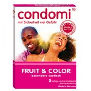 Condomi Preservativos de Sabores 3 Unidades