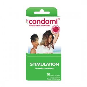 Condomi Preservativos Estimulación 10 Uds