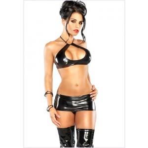 Minifalda Halter Set Negro
