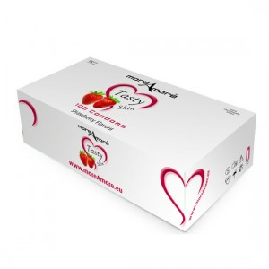 MoreAmore Condones Sabor Fresa (caja 100 unidades)