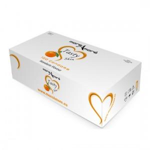 MoreAmore Condones Sabor Mandarina (caja 100 unidades)