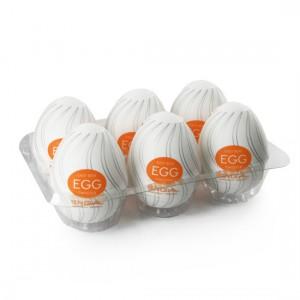 Tenga Huevo Masturbador Naranja Huevera 6 Uds