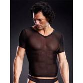 Camiseta Negra Cuello de Pico
