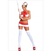Enfermera Private Nurse Blanco/Rojo