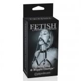 Fetish Fantasy Edición Limitada Mordaza con Pinzas para Pezones