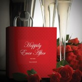 Happily Ever After Felices Para Siempre Etiqueta Roja