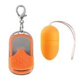 Huevo vibrador 10 velocidades control remoto naranja mediano
