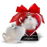 Pato Vibrador Corazón Paris Blanco de Viaje