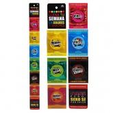 Preservativos semanales variados colores y sabores