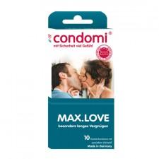 Condomi Preservativos Retardantes Max Love 10 Uds