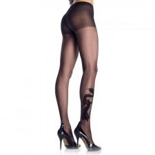 Leg Avenue Panties Negros con Efecto Tatuaje de Dragón